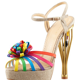 Charlotte Olympia - Birds of Paradise Cage-Heel Sandal