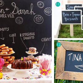 Exquisite Weddings - Chalkboard Details