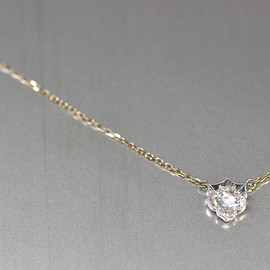 kataoka - k18 pt diamond necklace
