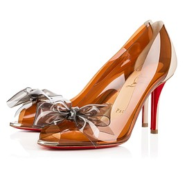 Christian Louboutin - TIP PVC/KID, MARRON