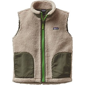 Patagonia - Kids' Retro-X Fleece Vest 2016 Natural White/Industrial Green