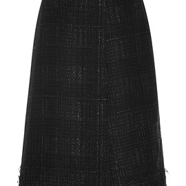 THOM BROWNE - FW2015 Lightweight Rubber Tweed Pencil Skirt
