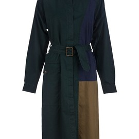 DRIES VAN NOTEN - Color panel coat