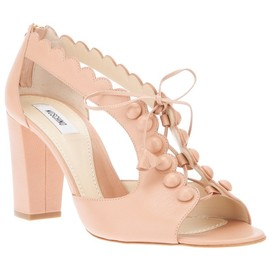 MOSCHINO - scalloped lace-up sandal