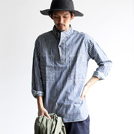 HAVERSACK - Indigo Stripe Pull Over Shirts