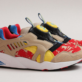 "PUMA - Puma Disc Blaze ""Tropical"" – Red – Yellow – Beige"