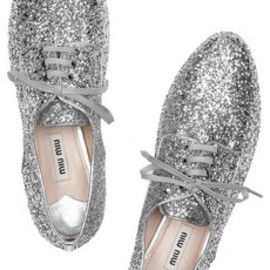 Glitter-sole suede pumps