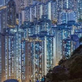 Hong Kong - DARK: buildings, skyline, cityscapes