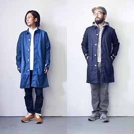 Manual Alphabet - Manual Alphabet : denim shirt coat