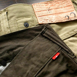 """ANACHRONORM - Buckle Back Work Pants """"Type 2nd""""Slim Straight Fit(ANS-158)"""