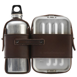 Dick van Hoff x Thomas Eyck - Leather Strapped Canteen and Lunch Box Set