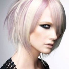 lilac and white blonde