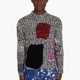 Raf Simons - / Sterling Ruby Men's Patchwork Knit Jumper
