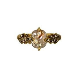 CATHY WATERMAN - Fine Rustic Diamond Leafside Ring