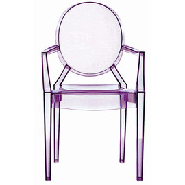 Kartell - Lou Lou Ghost Kids' Armchair (Purple) by Philippe Starck
