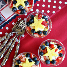 Recipe Girl - 4th of July Fresh Berry Trifles
