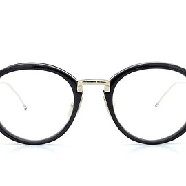 Thom Browne - NEW YORK(トムブラウンニューヨーク)メガネ TB-011A 46size BLACK/SHINY 12K GOLD BRIDGE&TEMPLES 2