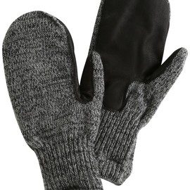 NEWBERRY KNITTING - Newteck Lined Ragg Wool Mitten with Deerskin Palm