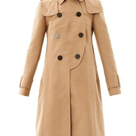 CARVEN - Hooded double-breasted raincoat