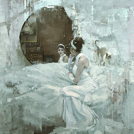 "Jeremy Mann - ""The Forgotten (Version Two - Neglect)"" - 48 x 48 in. Oil on Panel 2012"
