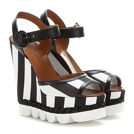 DOLCE&GABBANA - Bianca printed wedge sandals