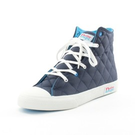 """The Duffer of St George - DUFFER DAPS HIGH """"NYLON QUILT"""" SNEAKERS"""