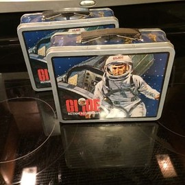 VINTAGE GI JOE ACTION ASTRONAUT COLLECTIBLE METAL LUNCHBOX! UNOPENED! Lot Of Two