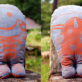 Joint Creation - Mr.INDIGO MAN PILLOW