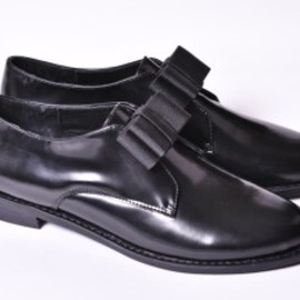 F-troupe - LETHER BLACK SHOES