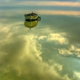 BLUE: boat on the clouds