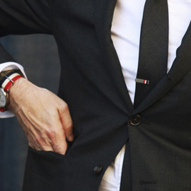 Thom Browne - Accessories in Blue/White/Red: watch strap, ...
