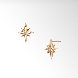 STAR JEWERY - DIAMOND CROSSING STUDS PIERCED EARRINGS ¥27,300(税込)