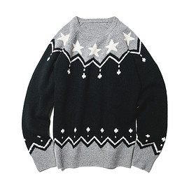 uniformexperiment - STAR NORDIC CREW NECK KNIT