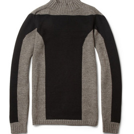 Rick Owens - Panelled Wool-Blend Sweater