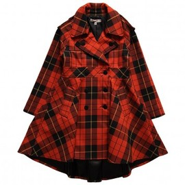 Jean Paul Gaultier - GIRLS SHOWERPROOF DARK ORANGE CHECK TRENCH COAT