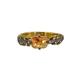CATHY WATERMAN - Rustic Diamond Leafside Ring