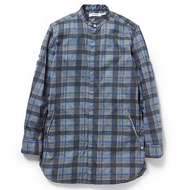nonnative - DOCTOR LONG SHIRT COTTON PIQUE CHECK