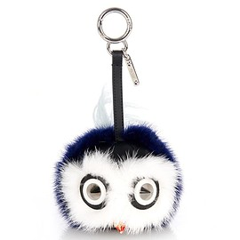FENDI - Bag Bugs charm with leather and mink fur