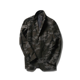 SOPHNET. - CAMOUFLAGE COTTON HOME SPAN 2 BUTTON JACKET