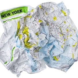 B5+10  brooklyn5and10.com - しわくちゃの都市地図:via Crumpled City Maps. Forget folding, just crumple and go! Great gift for city dweller or for travel! Lightweight, flexible, and waterproof.