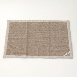 fog linen work - linen massage bath mat