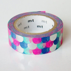 mt - mt Washi Masking Tape - Metallic Fish Scales - Limited Edition