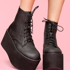 Nasty Gal x Jeffrey Campbell - Nasty Gal x Jeffrey Campbell コラボ Riot 厚底ブーツ
