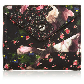 Givenchy - Envelope wallet in floral-print leather