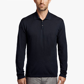 JAMES PERSE - COTTON POLO SWEATER