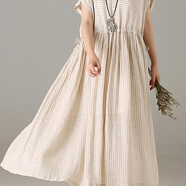 Linen long dress - Linen long dress,Maxi dress Summer, apricot Long dress, summer dress