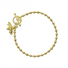 NATURAL HISTORY MUSEUM uk - Gold plated bee bracelet