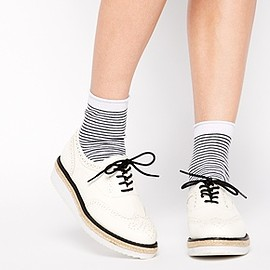 new look - Image 1 of New Look Limehouse White Sole Flatform Shoes