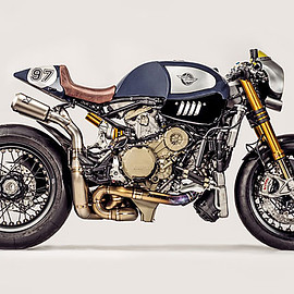 Ducati Zentralschweiz & Parts World - 'The Blue Shark' Ducati Panigale R Cafe Racer