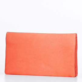 Foldover Nappa Leather Clutch